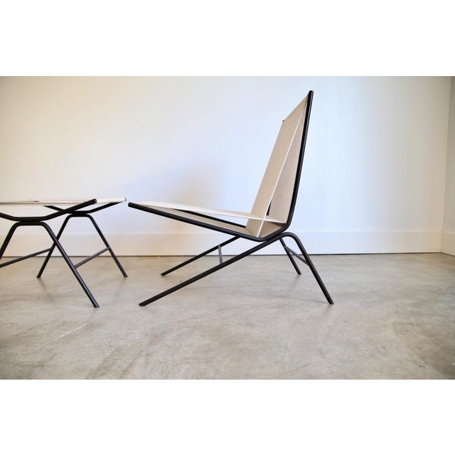 Allan Gould Allan Gould String Chair & Ottoman For Sale - Image 4 of 11
