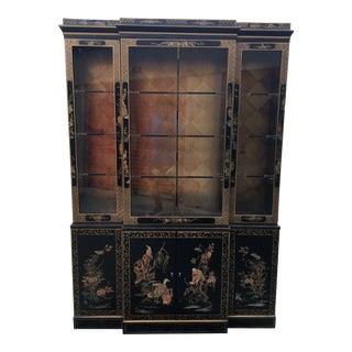 Vintage Mid Century Drexel Cetera Breakfront Cabinet For Sale