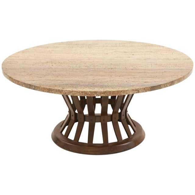 Ash Edward Wormley for Dunbar Sheaf of Wheat Cocktail Table For Sale - Image 7 of 7