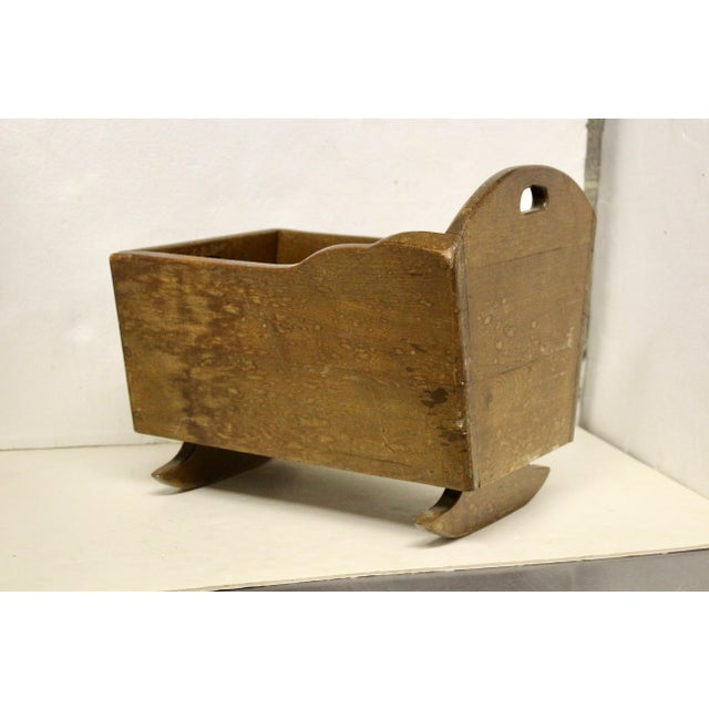Late 19th Century Late 19th C. Antique Rocking Cradle Rack For Sale - Image 5 of 7