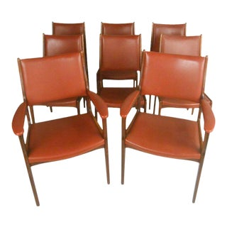 Vintage Danish Modern Dining Chairs - Set of 8 For Sale