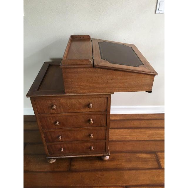 Antique Captain S Davenport Desk Image 8 Of 11
