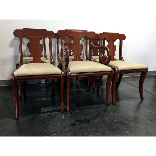 Empire Vintage Willett Solid Cherry Empire Style Dining Chairs - Set of 6 For Sale - Image 3 of 11