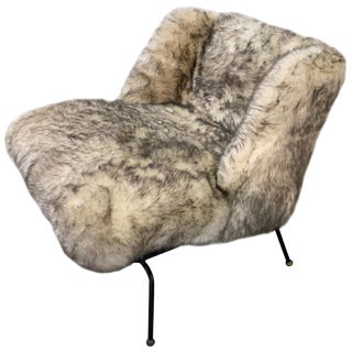 Faux Fur Lounge Chair For Sale