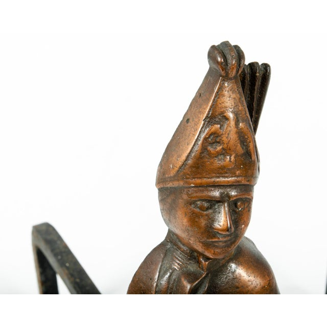 Pair of Hessian Soldier Figural Andirons For Sale - Image 4 of 7