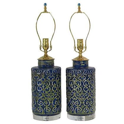 Regency Ceramic Lamps - A Pair - Image 1 of 3