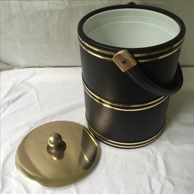 Faux Leather & Gold Ice Bucket - Image 5 of 5
