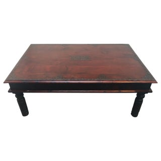 Vintage Anglo-Indian Teak Coffee Table For Sale