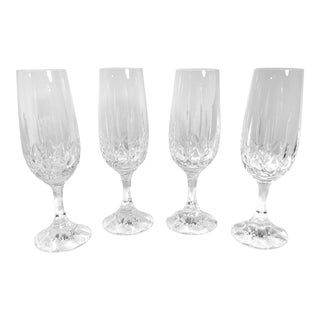 Set of 4 Schott-Zwiesel Crystal Champagne Glasses Champagne Flutes For Sale