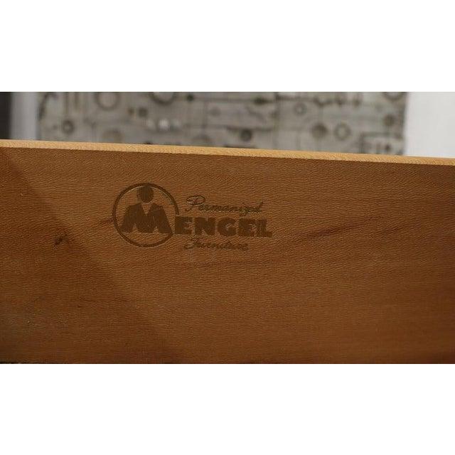 Brown Two Tone Nine Drawer Cerused Oak Long Dresser Credenza by Mengel For Sale - Image 8 of 13