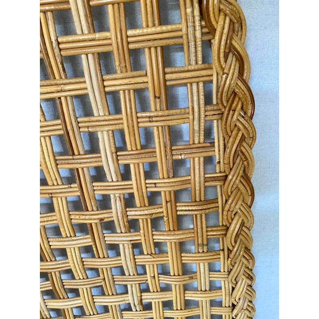 Vintage Woven Braided Rattan Headboards- a Pair For Sale - Image 10 of 13
