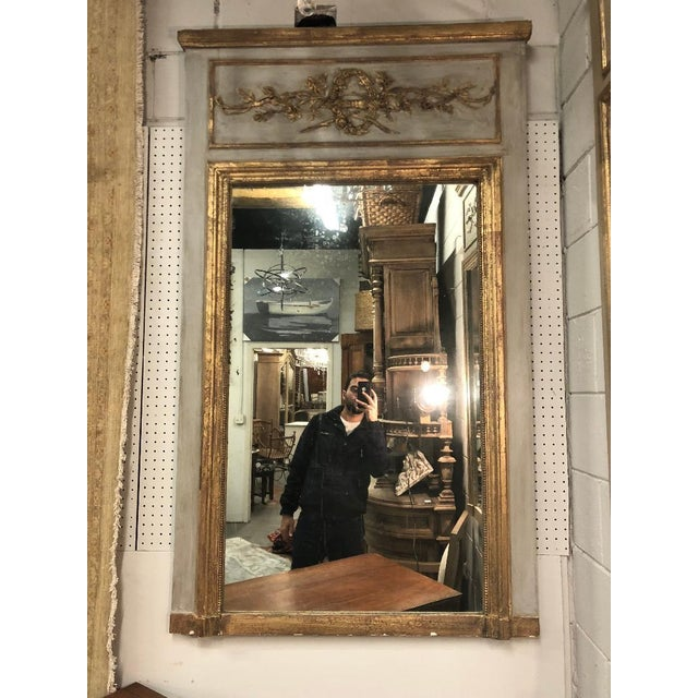 Gold 19th Century French Louis XVI Gilt Mirror For Sale - Image 8 of 8