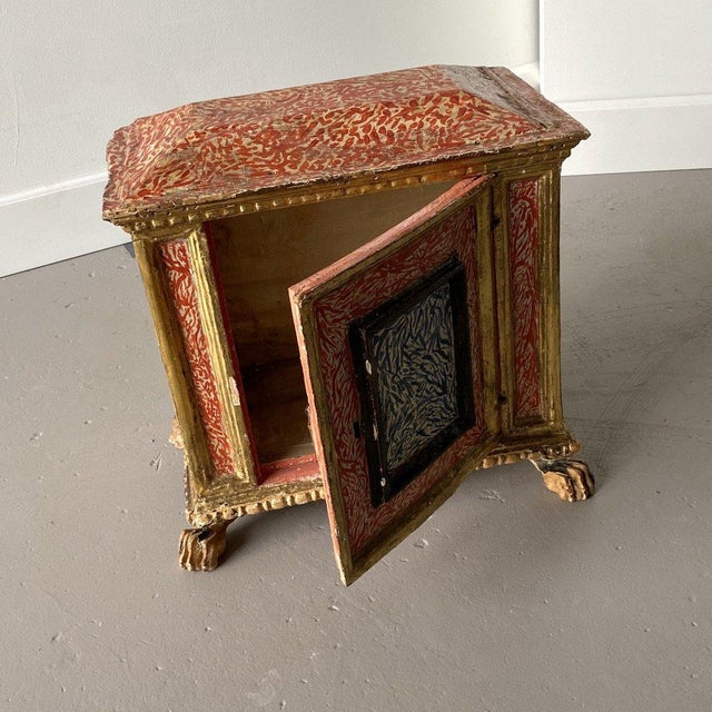 19th Century Miniature Italian Cabinet For Sale In West Palm - Image 6 of 9