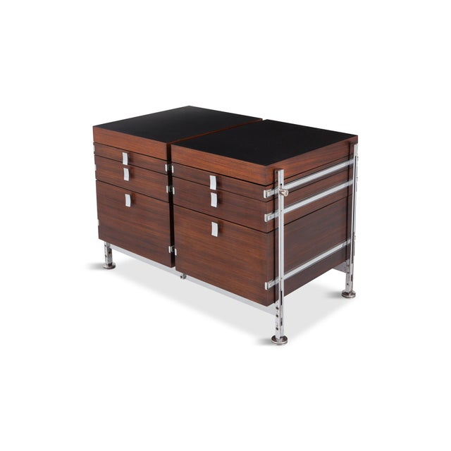 Belgian Jules Wabbes Mahogany Double Chest of Drawers for Mobilier Universel For Sale - Image 3 of 10