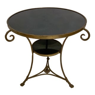 Neo-Classical Style Bronze and Marble Gueridon Table For Sale
