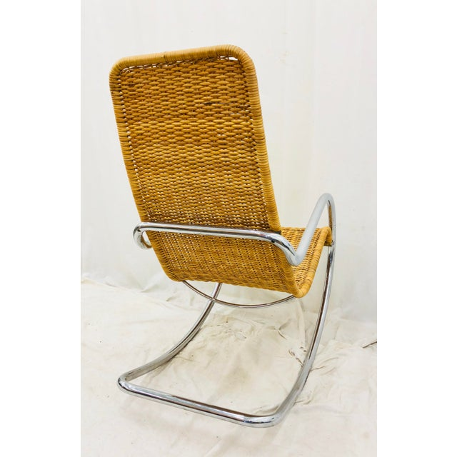 Mid 20th Century Mid Century Modern Thonet Rocking Chair For Sale - Image 5 of 9