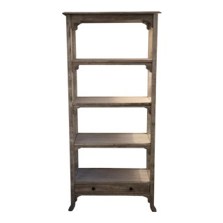 Antique-Style Wood Bookshelf For Sale