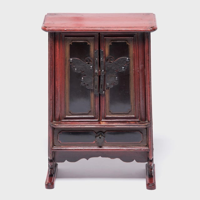 These late 19th century miniature tapered keepsake cabinets would have been kept in a woman's quarters, likely used as...