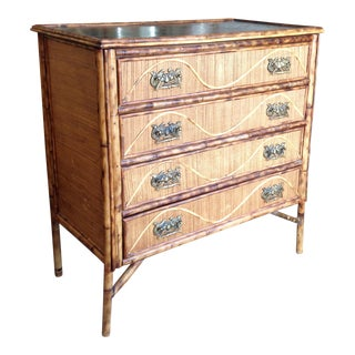 Superior 19th Century Bamboo Dresser For Sale