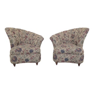 English Made Fan Back Fireside Chairs - a Pair For Sale
