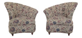 Image of Beige Club Chairs