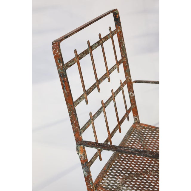 Pair of French Iron Garden Chairs For Sale - Image 11 of 13