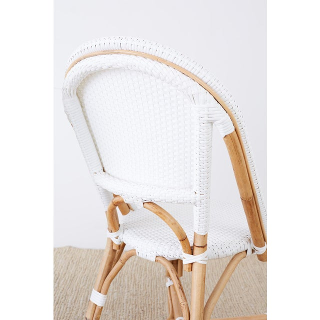 Serena and Lily Bamboo Riviera Rattan French Bistro Chairs For Sale - Image 10 of 13