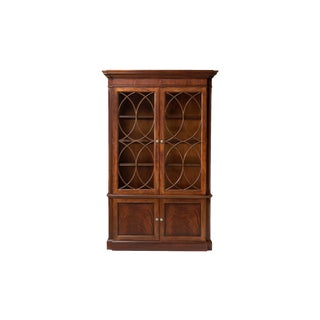 Gothic Ethan Allen Roth China Cabinet For Sale