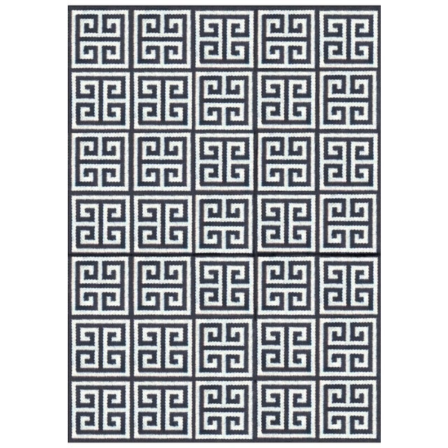 Traditional Jonathan Adler Black & White Rug - 4′ × 6′ For Sale - Image 3 of 3