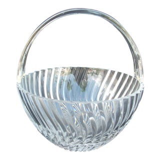 Towle Crystal Basket For Sale