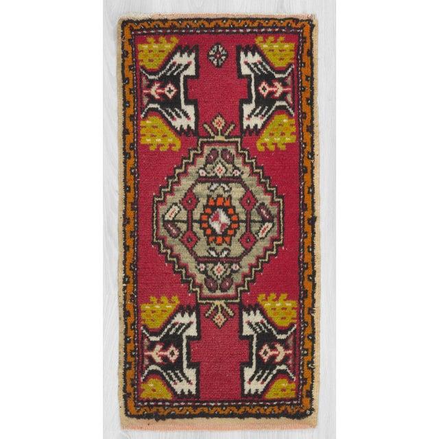 Vintage Turkish Rug - 1′7″ × 3′3″ - Image 2 of 4