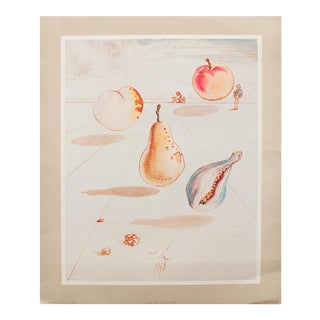 1955 Dali Fruits Original Period Lithograph From the Mrs. Albert D. Lasker Collection For Sale