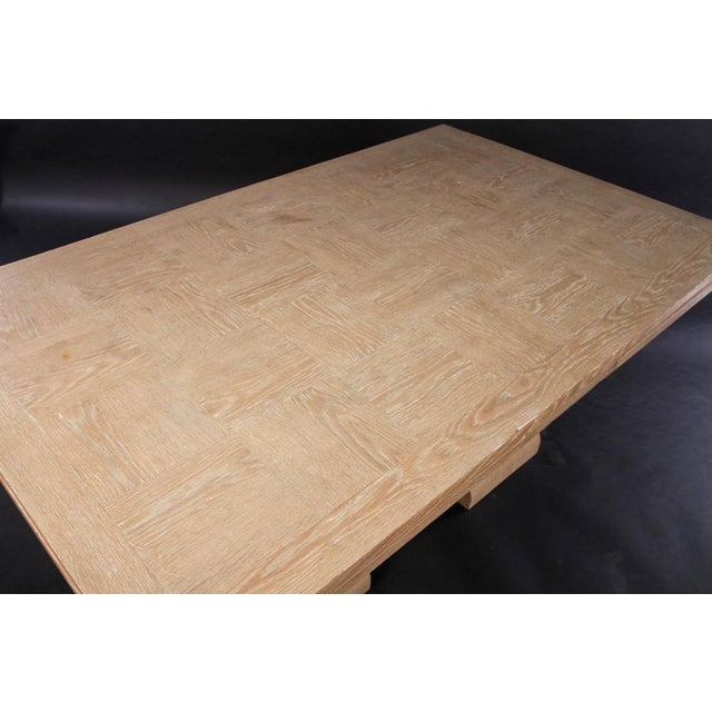 Art Deco Cerused Oak Dining Table - Image 4 of 7