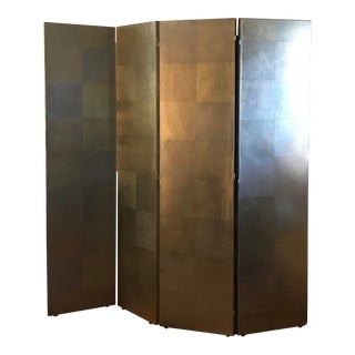 Modern Original 4 Panel Folding Decorative Screen For Sale