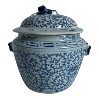 Blue and White Porcelain Rice Pot For Sale