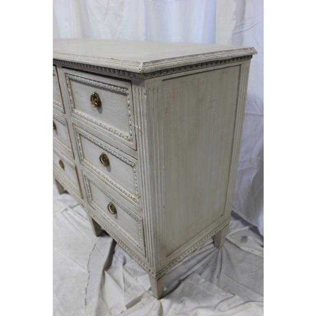 Oak 20th Century Nine Door Taupe Oak Gustavian Dresser For Sale - Image 7 of 8