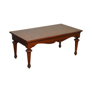 Lexington Cherry Wood Regency Style Rectangular Coffee Table For Sale