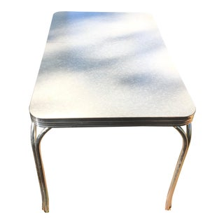 Mid-Century Modern Formica Chrome Dining Table