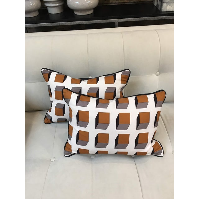2010s Gaston Y Daniela Lolo Ocre Lumbar Pillows - A Pair For Sale - Image 5 of 5