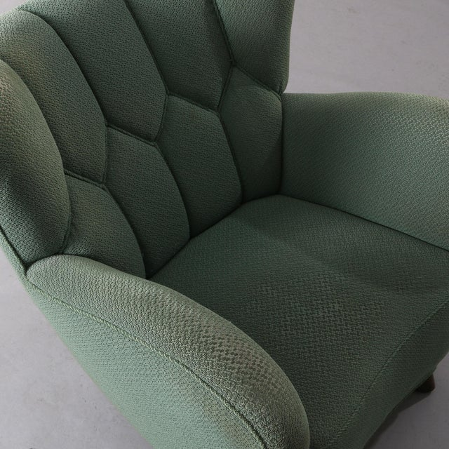 1940s Vintage Danish Club Chair For Sale - Image 4 of 6