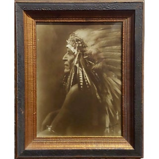 Richard Throssel -Native American Crow Chief -Original Photograph C1900s For Sale