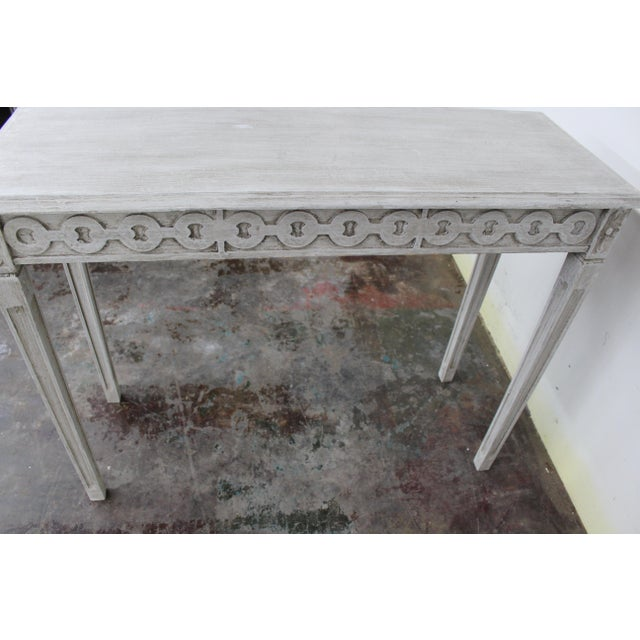 Mid-Century Modern 20th Century Vintage Swedish Gustavian Style Console Table For Sale - Image 3 of 9