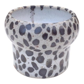 Boho Chic Spotted Pottery Bud-Vase For Sale