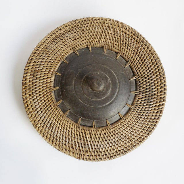 Bamboo Basket With Lid For Sale - Image 4 of 6
