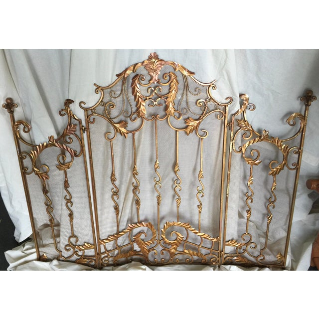 Ornate Fireplace Screen For Sale - Image 12 of 12