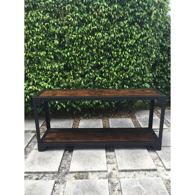 Pottery Barn Mission Style Console Table Chairish - Pottery barn outdoor console table
