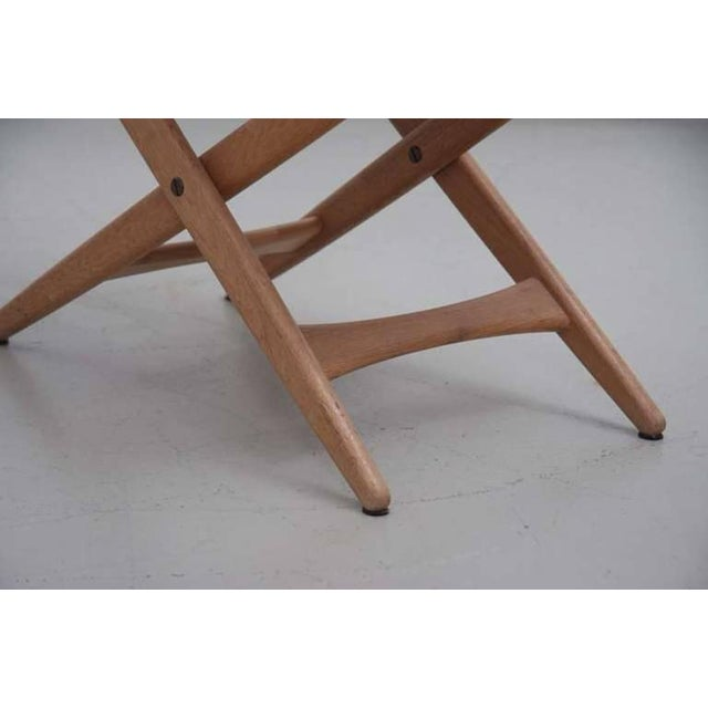 Mid-Century Modern Folding Stool by Des. Uno and Östen Kristiansson for Luxus Vittsjö For Sale - Image 3 of 6
