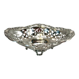Antique Gorham Sterling Pierced Bon Bon Dish For Sale