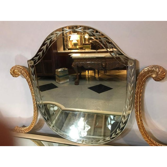 Hollywood Regency Grosfeld House Parcel Paint and Gilt Decorated Vanity or Desk For Sale - Image 5 of 10