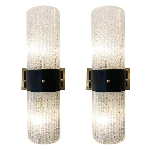 1960s Italian Mazzega Large Sconces - a Pair For Sale In New York - Image 6 of 6